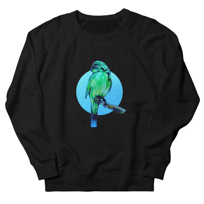 Parakeet - NZ Kakariki Women's French Terry Sweatshirt by Patricia Howitt's Artist Shop