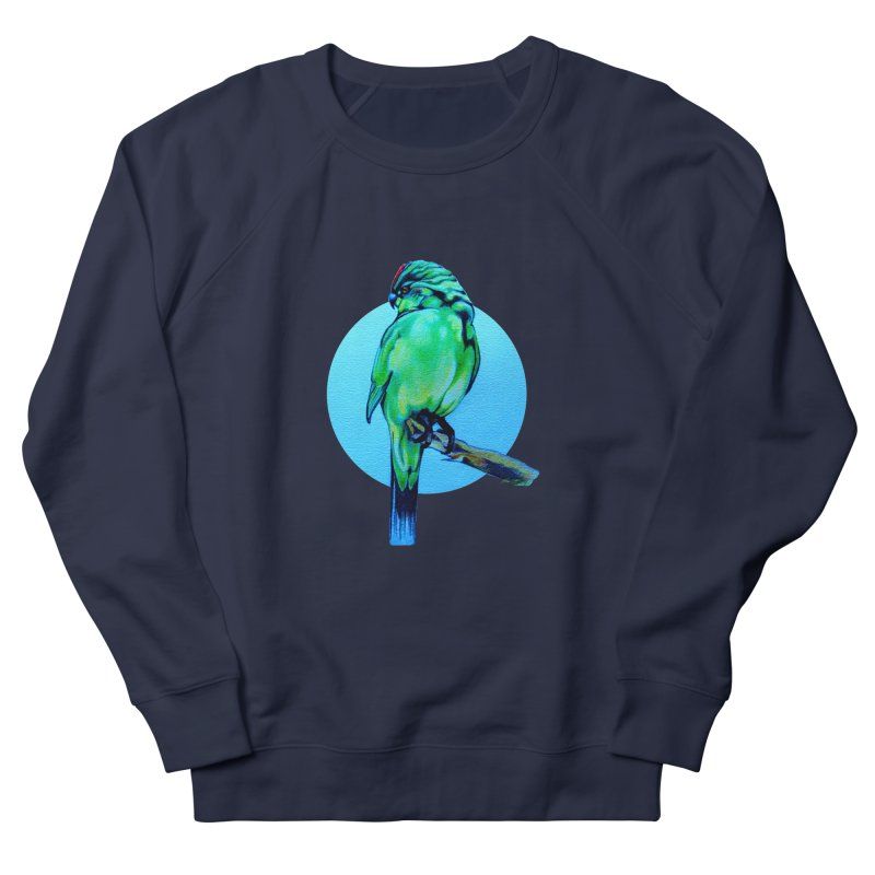 Parakeet - NZ Kakariki Men's French Terry Sweatshirt by Patricia Howitt's Artist Shop