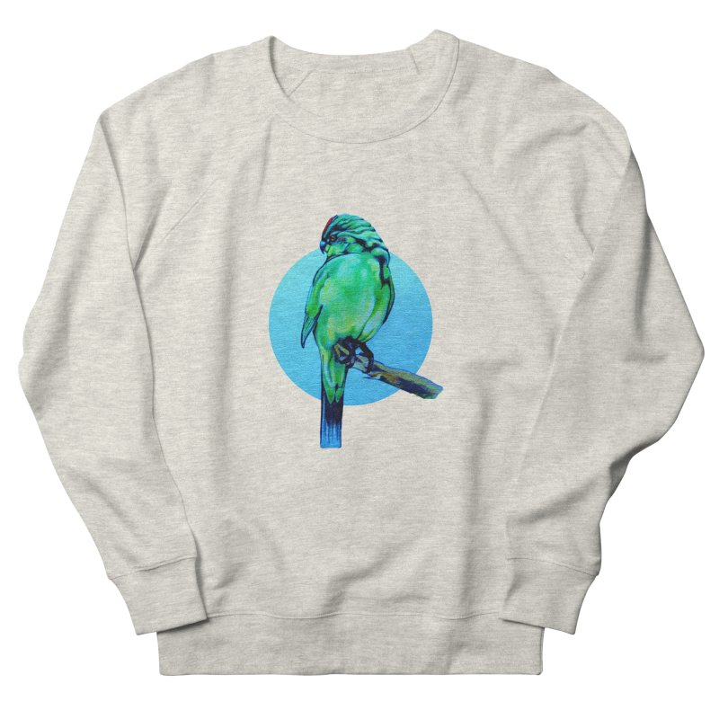 Parakeet - NZ Kakariki Men's Sweatshirt by Patricia Howitt's Artist Shop