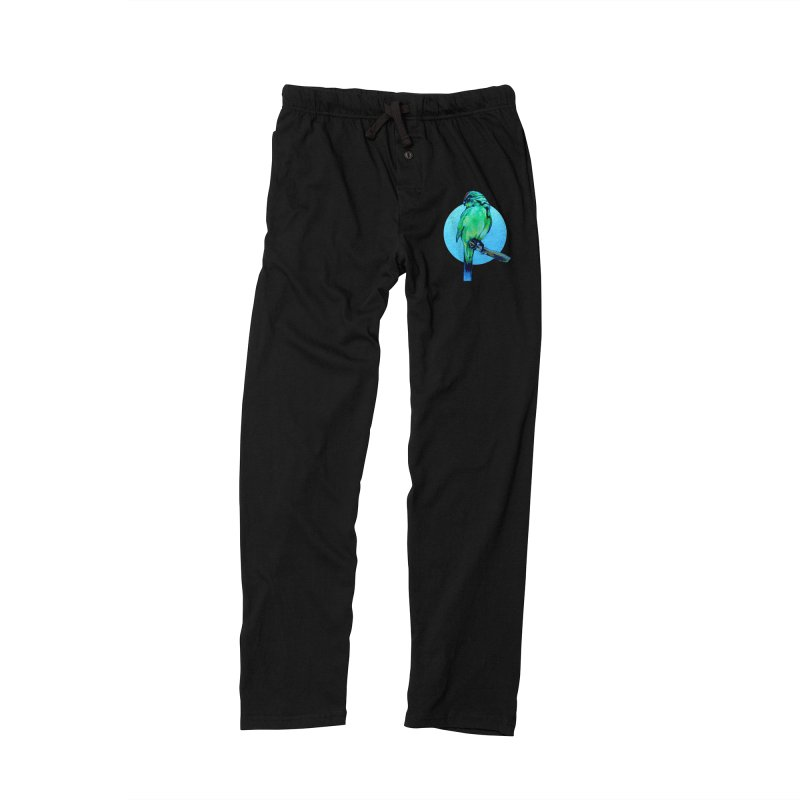 Parakeet - NZ Kakariki Men's Lounge Pants by Patricia Howitt's Artist Shop
