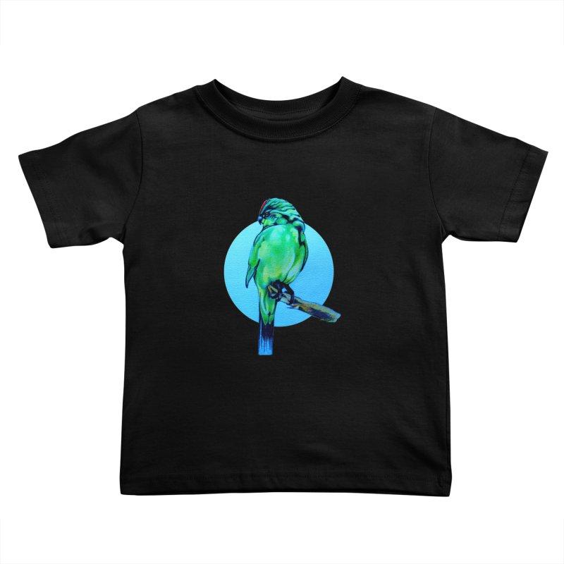 Parakeet - NZ Kakariki Kids Toddler T-Shirt by Patricia Howitt's Artist Shop