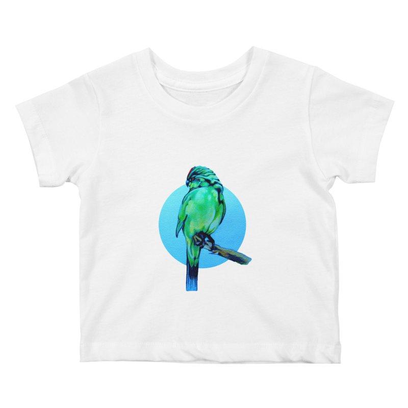 Parakeet - NZ Kakariki Kids Baby T-Shirt by Patricia Howitt's Artist Shop