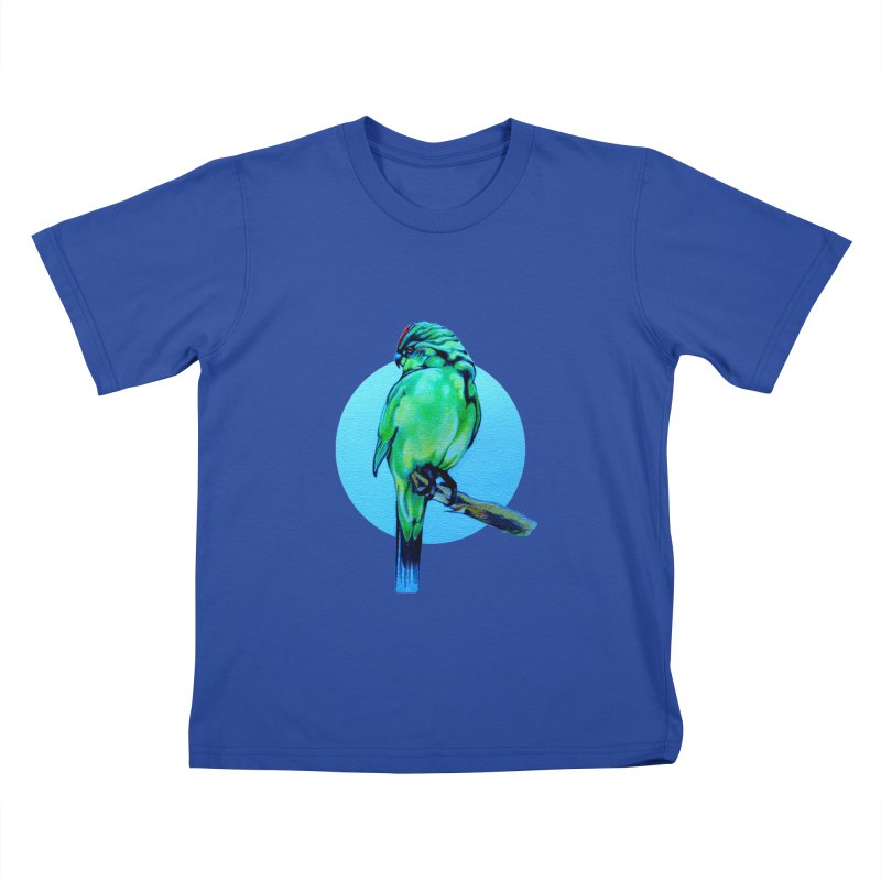 Parakeet - NZ Kakariki Kids T-Shirt by Patricia Howitt's Artist Shop