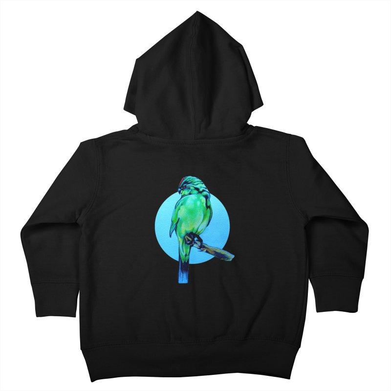 Parakeet - NZ Kakariki Kids Toddler Zip-Up Hoody by Patricia Howitt's Artist Shop