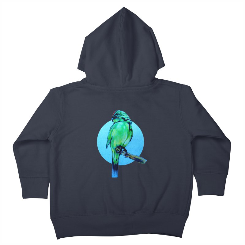 Parakeet - NZ Kakariki Kids Toddler Zip-Up Hoody by Patricia Howitt's Artist Shop