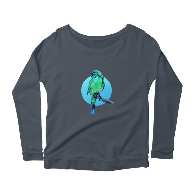 Parakeet - NZ Kakariki Women's Longsleeve T-Shirt by Patricia Howitt's Artist Shop