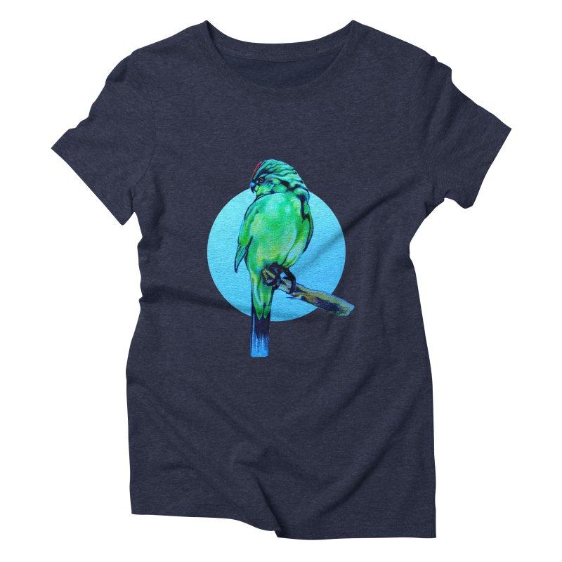 Parakeet - NZ Kakariki Women's Triblend T-Shirt by Patricia Howitt's Artist Shop