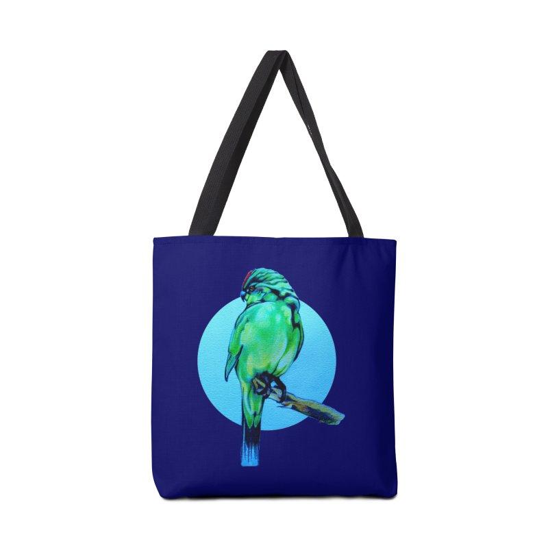 Parakeet - NZ Kakariki Accessories Bag by Patricia Howitt's Artist Shop