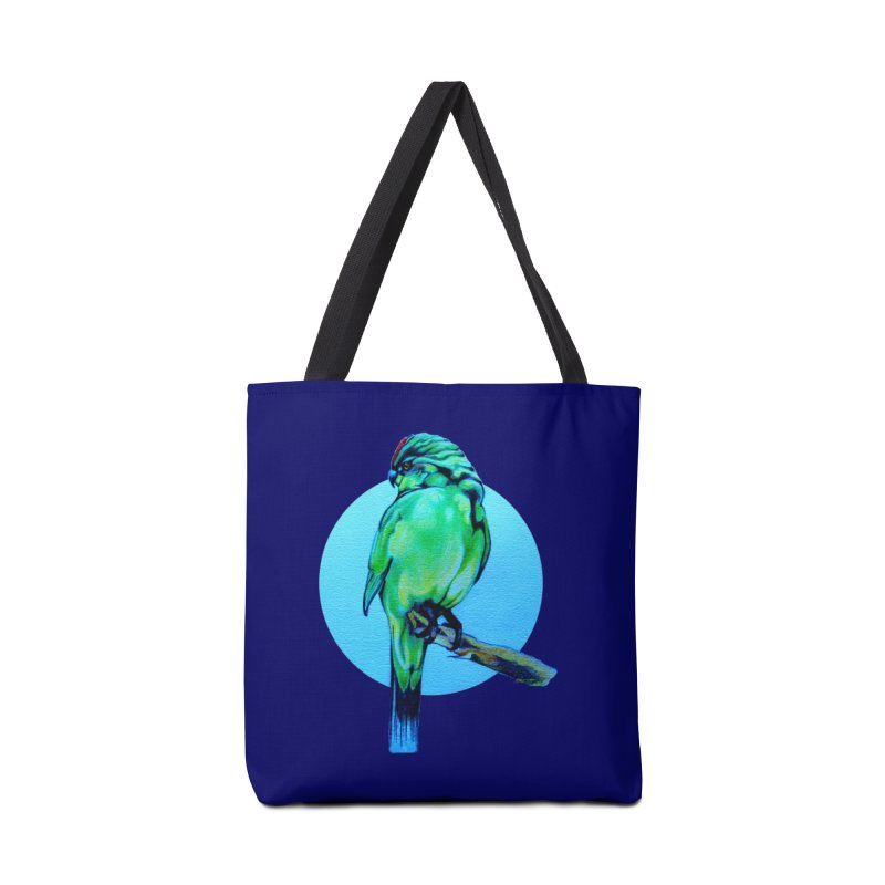 Parakeet - NZ Kakariki Accessories Bag by Patricia Howitt's Artist Shop