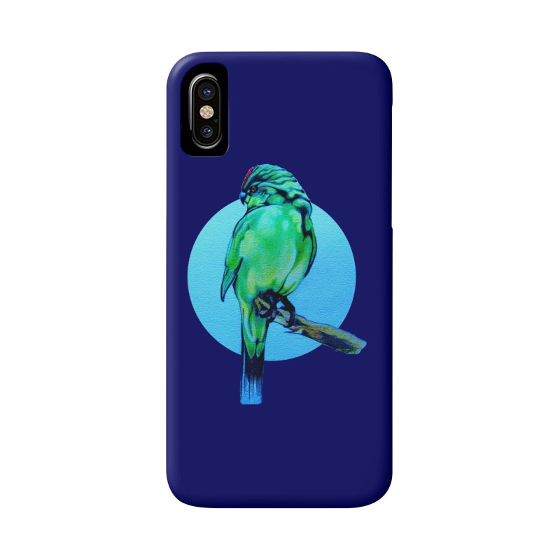 Parakeet - NZ Kakariki Accessories Phone Case by Patricia Howitt's Artist Shop