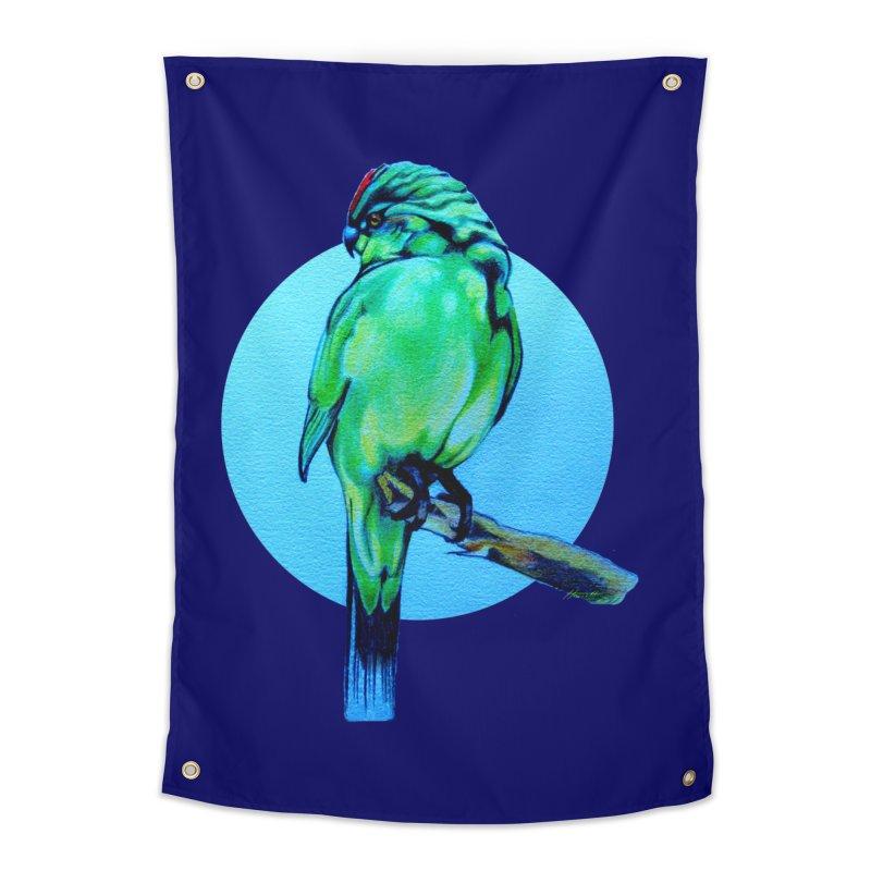 Parakeet - NZ Kakariki Home Tapestry by Patricia Howitt's Artist Shop
