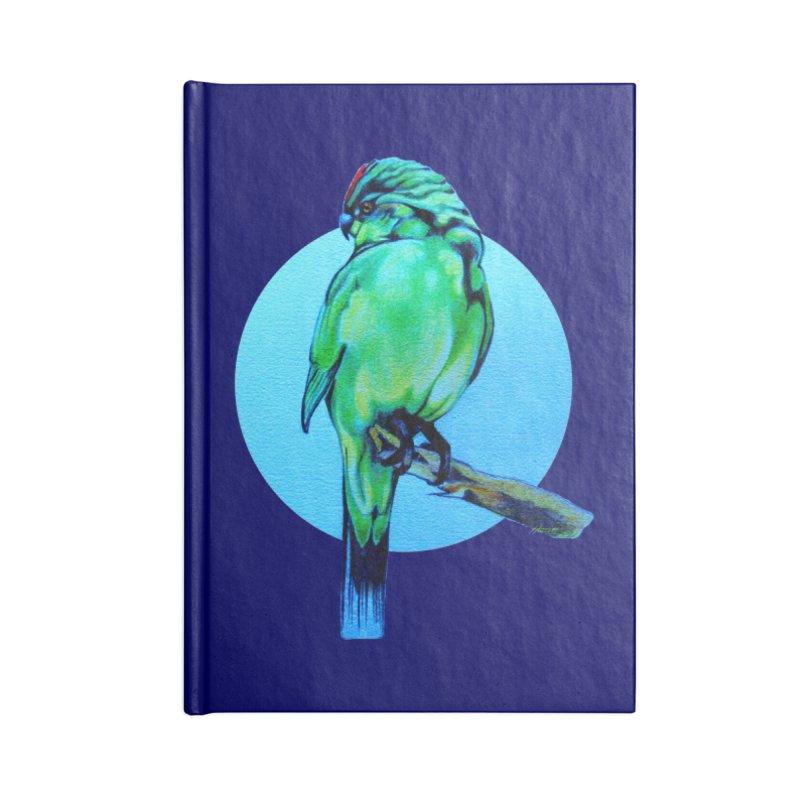 Parakeet - NZ Kakariki Accessories Notebook by Patricia Howitt's Artist Shop
