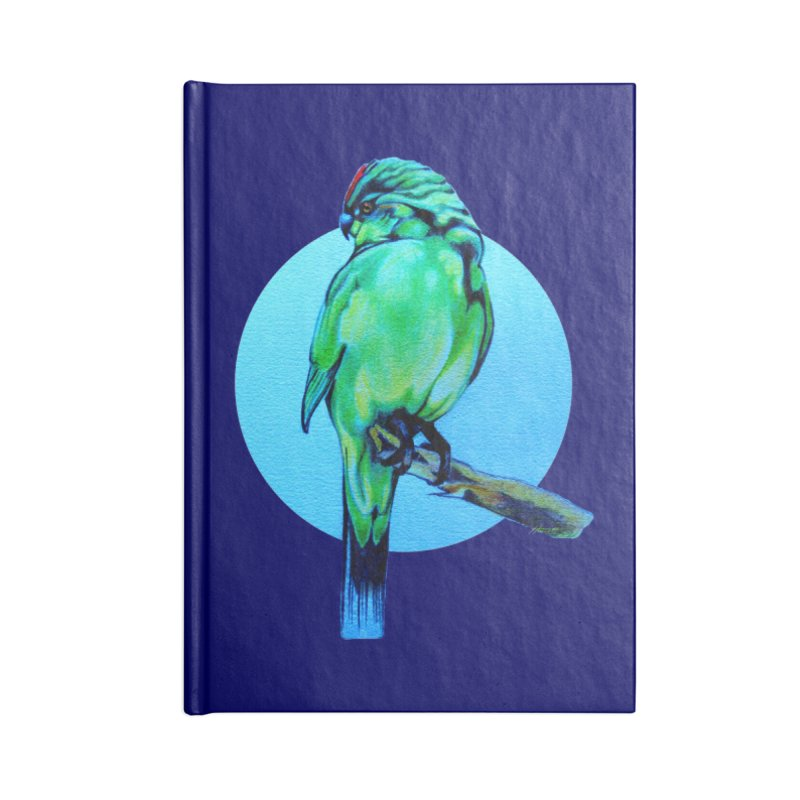 Parakeet - NZ Kakariki Accessories Notebook by Patricia Howitt's Artist Shop