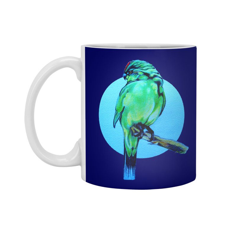Parakeet - NZ Kakariki Accessories Mug by Patricia Howitt's Artist Shop