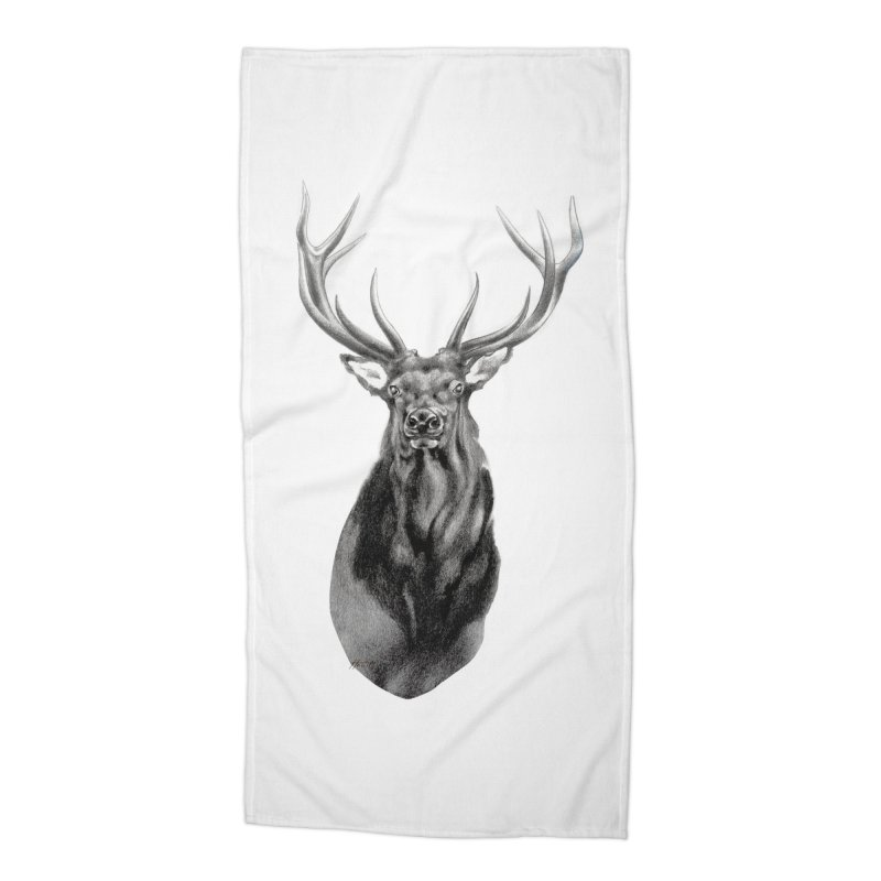 Elk 2 Accessories Beach Towel by Patricia Howitt's Artist Shop
