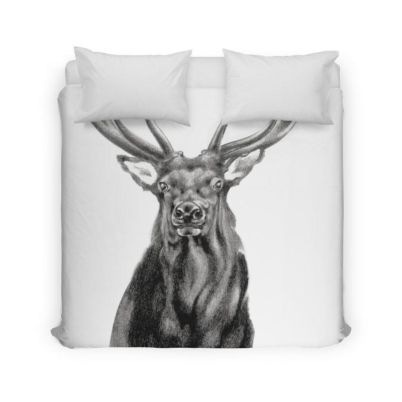 Elk 2 Home Duvet by Patricia Howitt's Artist Shop