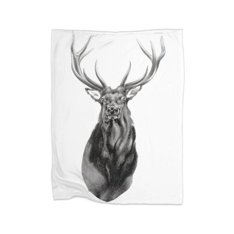 Elk 2 Home Blanket by Patricia Howitt's Artist Shop