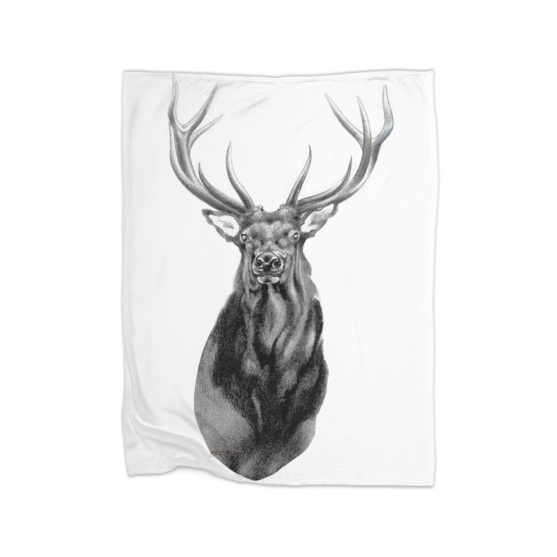Elk 2 Home Blanket by Patricia Howitt's Artist Shop