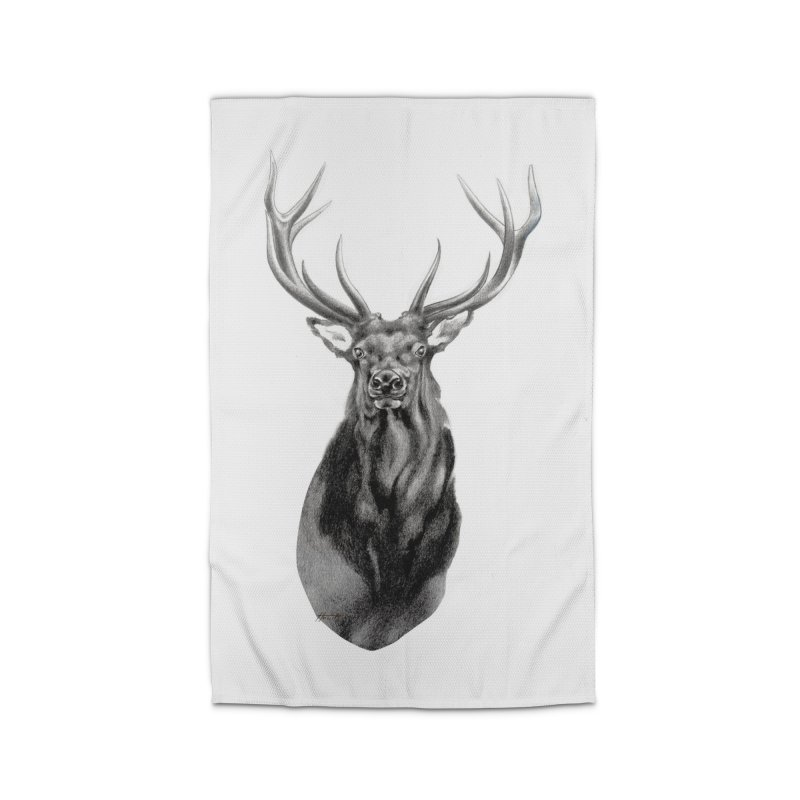 Elk 2 Home Rug by Patricia Howitt's Artist Shop