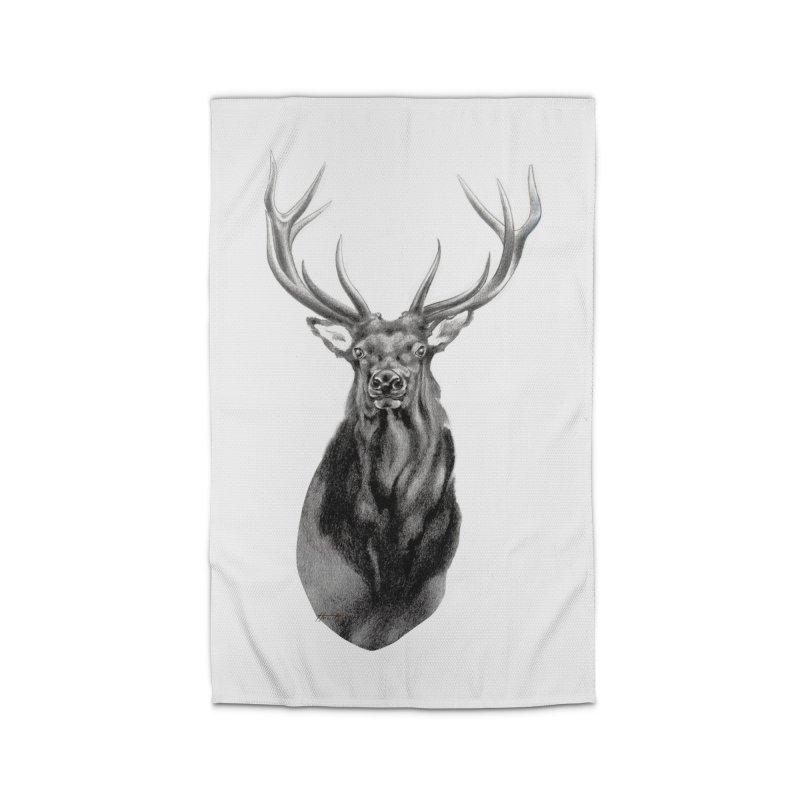 Elk 2 Home Rug by Patricia Howitt's Artist Shop