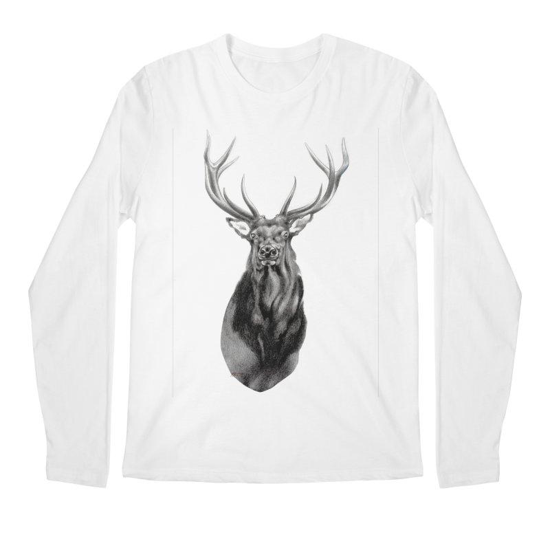 Elk 2 Men's Longsleeve T-Shirt by Patricia Howitt's Artist Shop