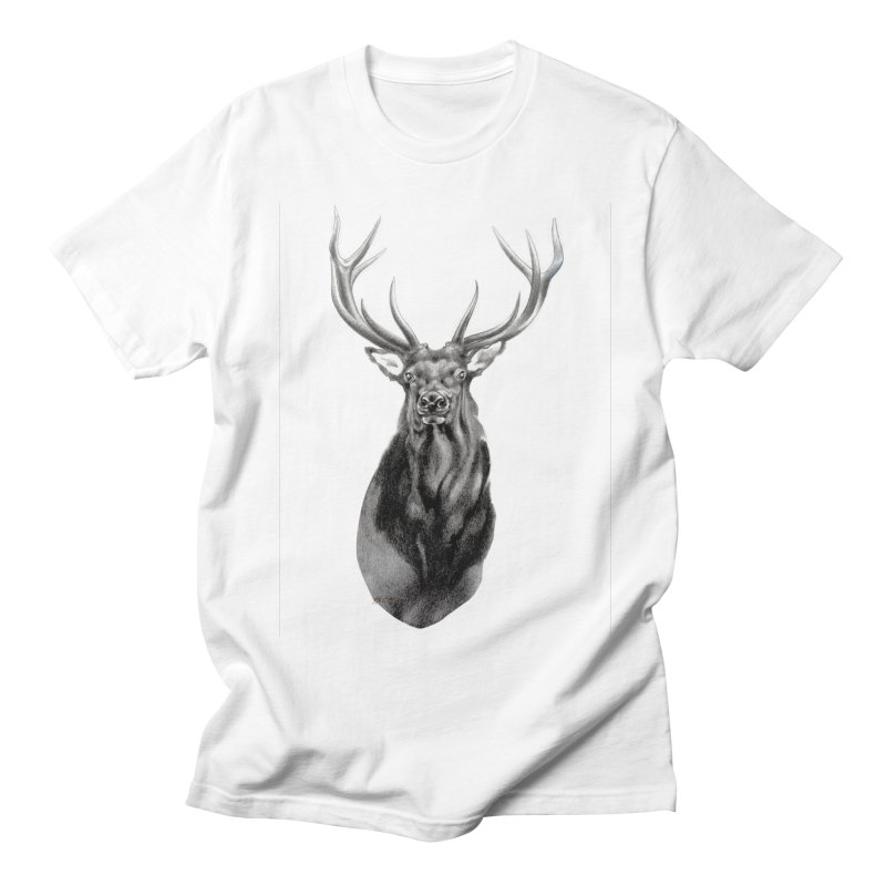 Elk 2 Men's Regular T-Shirt by Patricia Howitt's Artist Shop