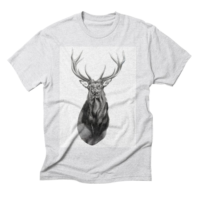 Elk 2 Men's Triblend T-Shirt by Patricia Howitt's Artist Shop