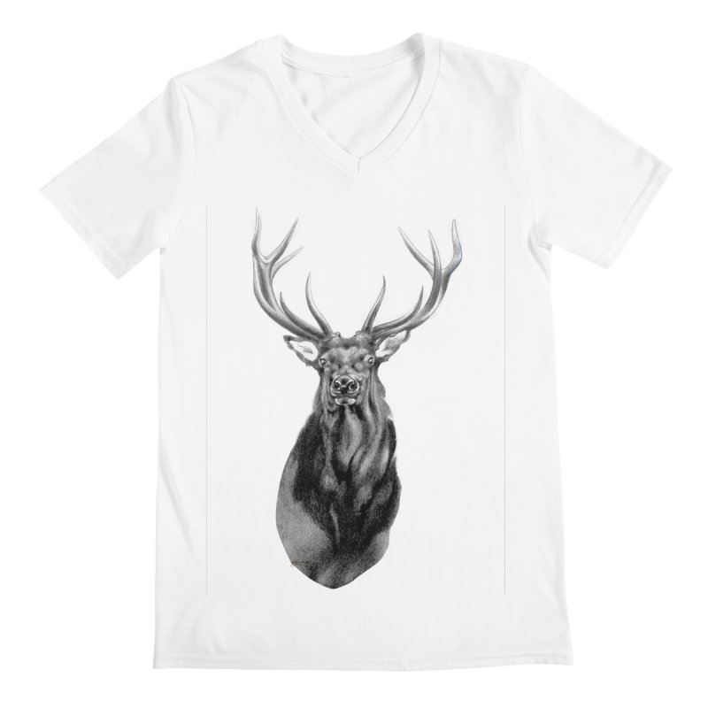 Elk 2 Men's V-Neck by Patricia Howitt's Artist Shop