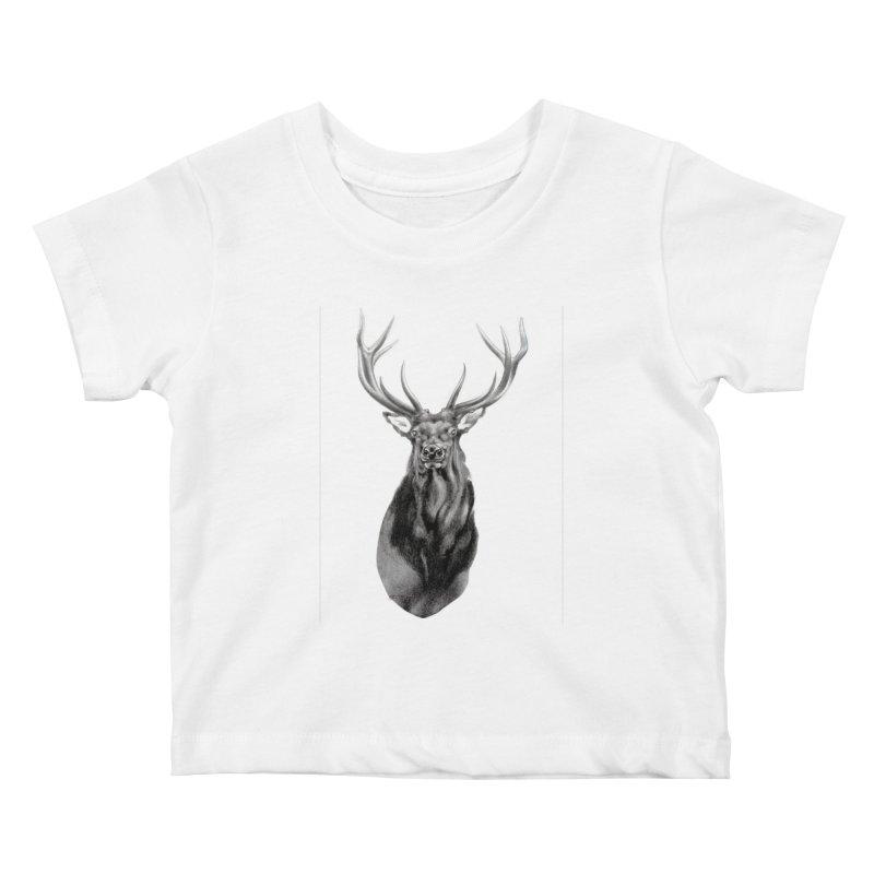 Elk 2 Kids Baby T-Shirt by Patricia Howitt's Artist Shop