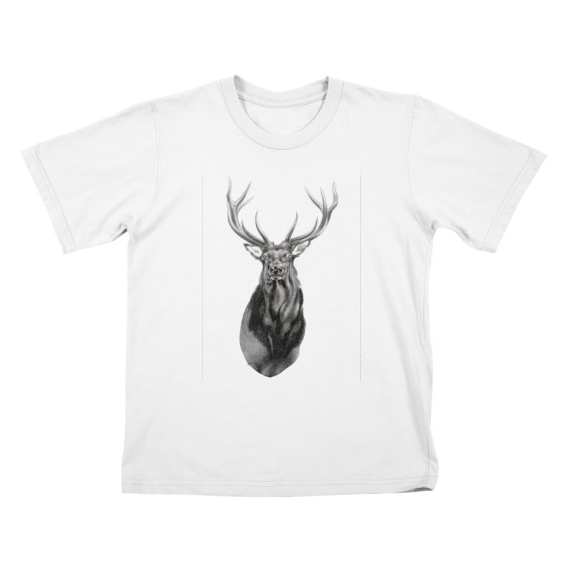 Elk 2 Kids T-shirt by Patricia Howitt's Artist Shop