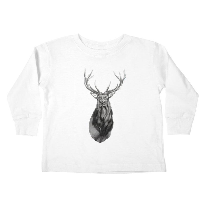 Elk 2 Kids Toddler Longsleeve T-Shirt by Patricia Howitt's Artist Shop