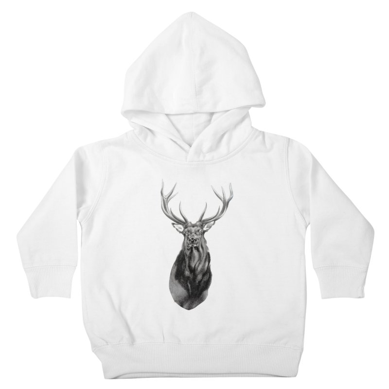 Elk 2 Kids Toddler Pullover Hoody by Patricia Howitt's Artist Shop