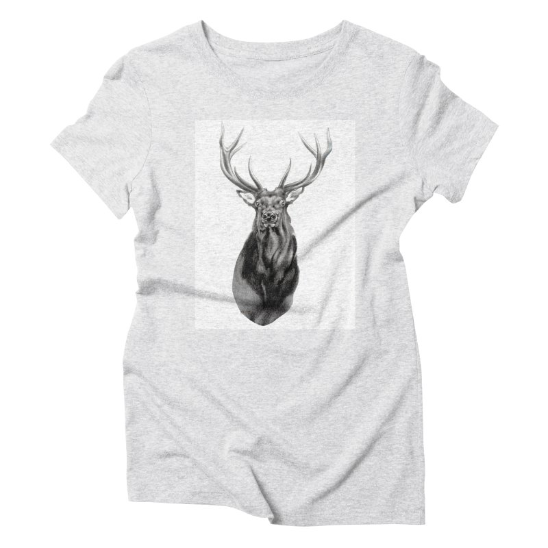 Elk 2 Women's Triblend T-Shirt by Patricia Howitt's Artist Shop