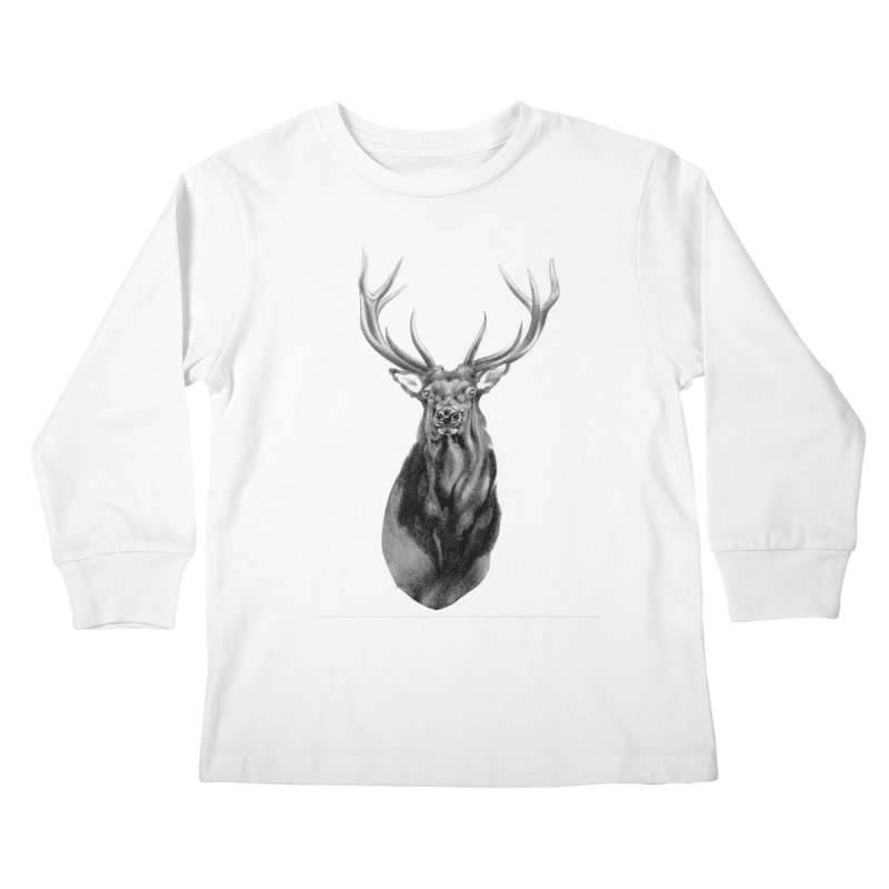 Elk 2 Kids Longsleeve T-Shirt by Patricia Howitt's Artist Shop