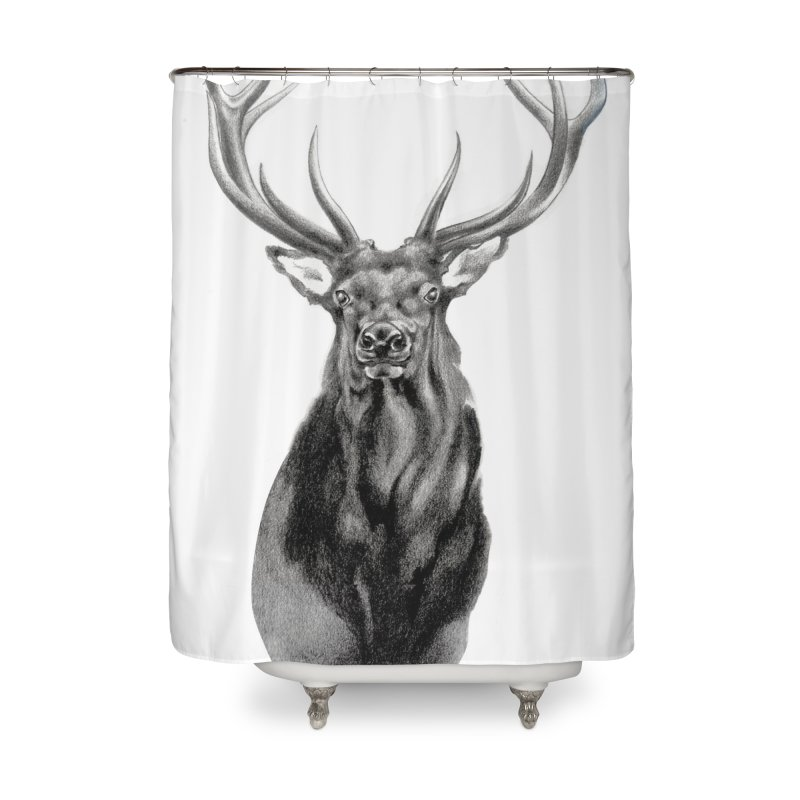 Elk 2 Home Shower Curtain by Patricia Howitt's Artist Shop