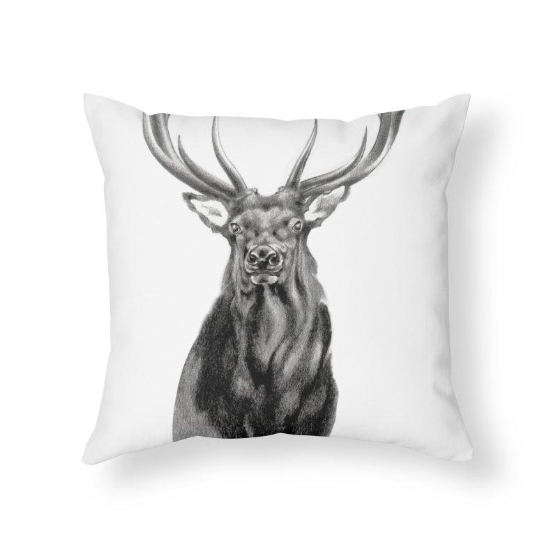 Elk 2 Home Throw Pillow by Patricia Howitt's Artist Shop