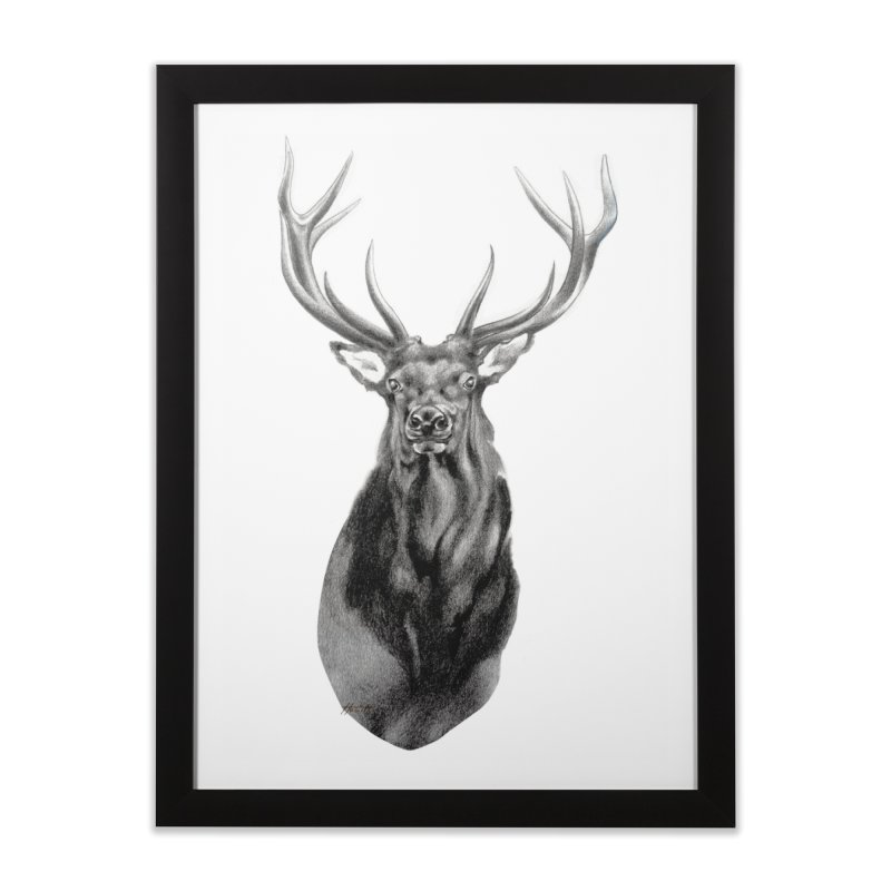 Elk 2 Home Framed Fine Art Print by Patricia Howitt's Artist Shop