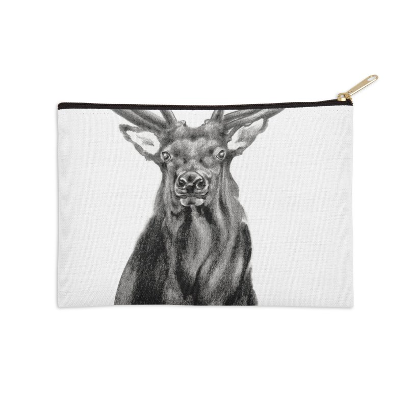 Elk 2 Accessories Zip Pouch by Patricia Howitt's Artist Shop