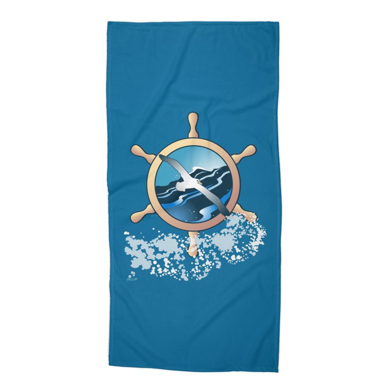 Albatross Accessories Beach Towel by Patricia Howitt's Artist Shop
