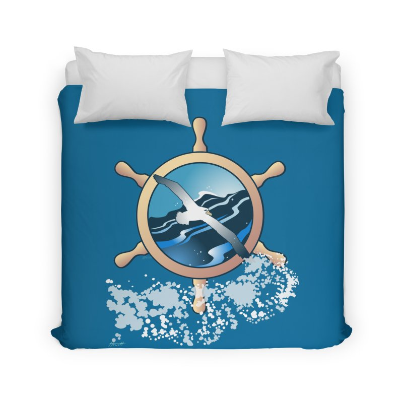Albatross Home Duvet by Patricia Howitt's Artist Shop