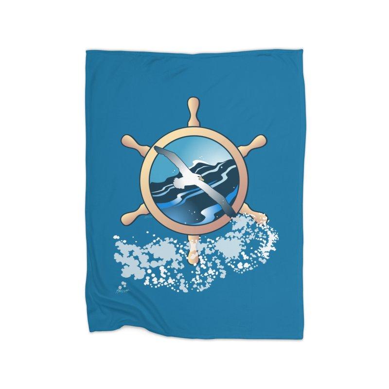 Albatross Home Fleece Blanket Blanket by Patricia Howitt's Artist Shop