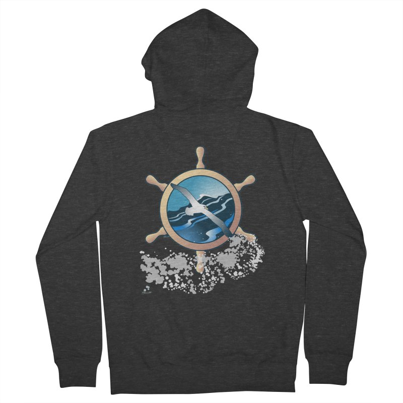 Albatross Women's Zip-Up Hoody by Patricia Howitt's Artist Shop