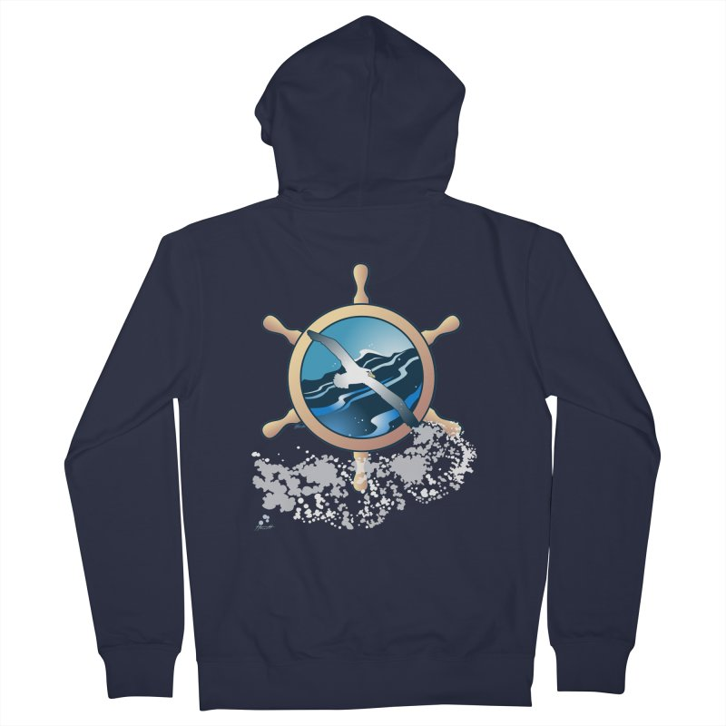 Albatross Men's French Terry Zip-Up Hoody by Patricia Howitt's Artist Shop