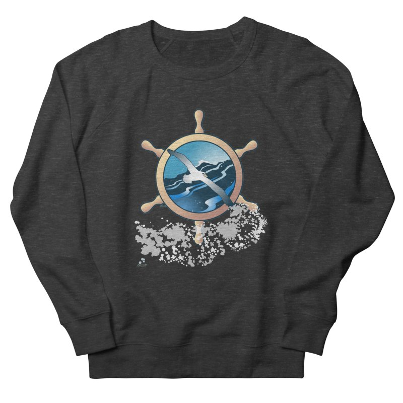 Albatross Women's French Terry Sweatshirt by Patricia Howitt's Artist Shop