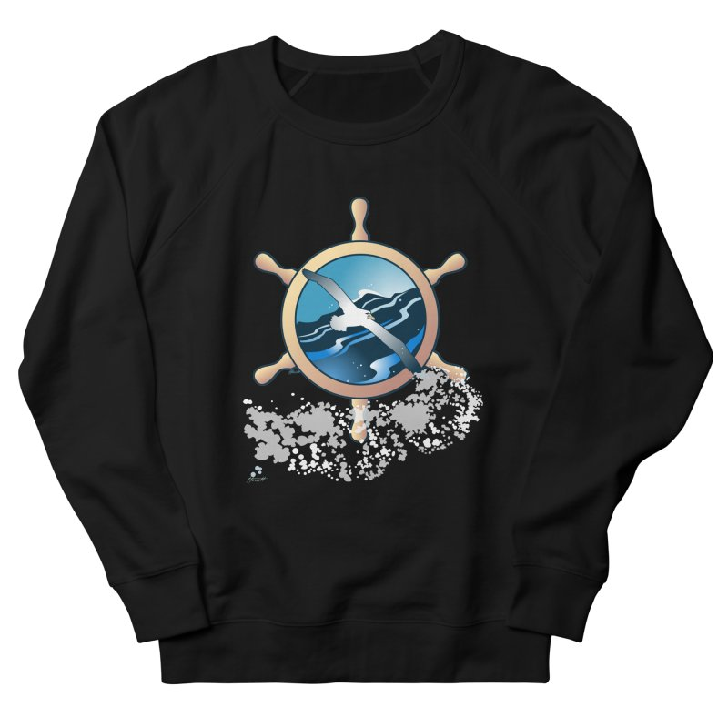Albatross Men's French Terry Sweatshirt by Patricia Howitt's Artist Shop
