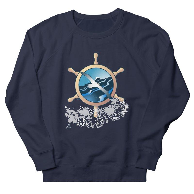 Albatross Men's French Terry Sweatshirt by Patricia Howitt's Artist Shop