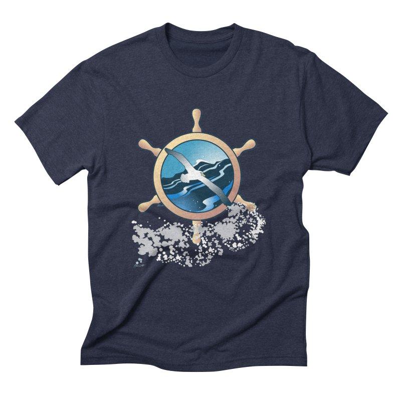 Albatross Men's Triblend T-shirt by Patricia Howitt's Artist Shop