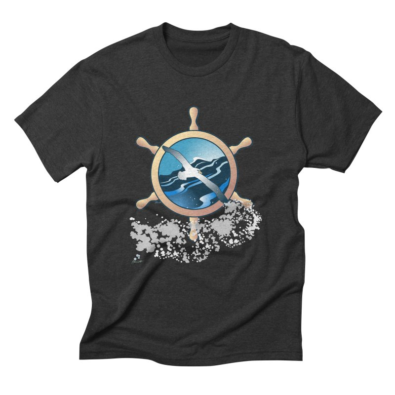 Albatross Men's Triblend T-Shirt by Patricia Howitt's Artist Shop