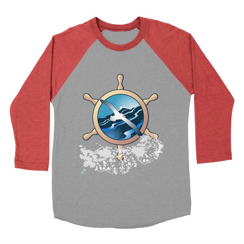Albatross Women's Baseball Triblend T-Shirt by Patricia Howitt's Artist Shop