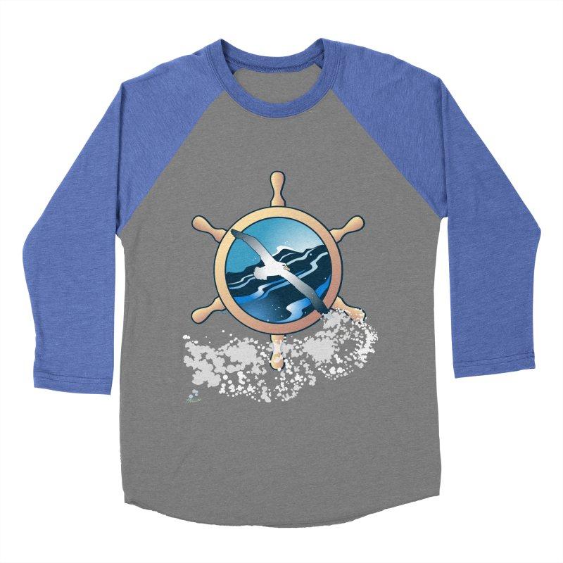 Albatross Men's Baseball Triblend T-Shirt by Patricia Howitt's Artist Shop